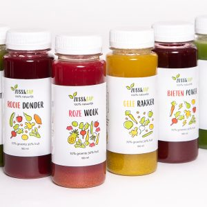 verschillende groentesappen detoxen